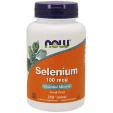 Selen 100mcg 250 tabletek Selenometionina Nowfoods