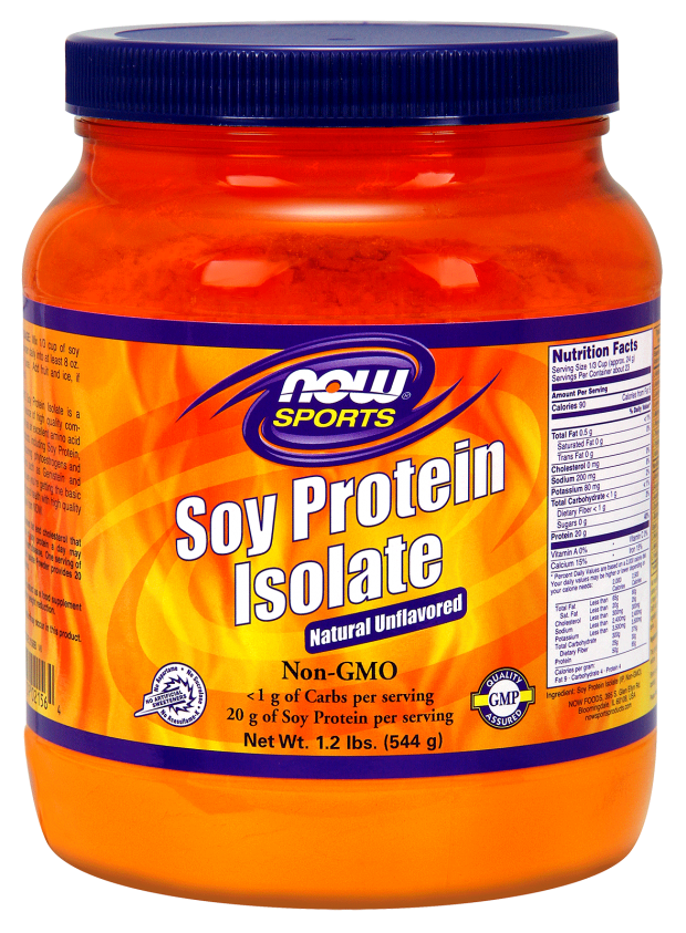 Soy protein 540g Nowfoods