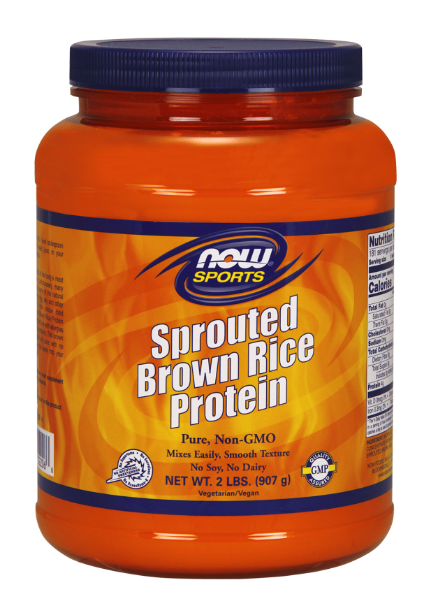 Sprouted brown rice protein 900g Nowfoods