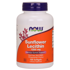 ​Sunflower Lecytyna 1200 mg Soy-Free, Non-GMO - 100 Softgels