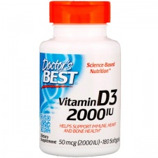 Vitamin D3 - 2000 IU - 180 softgels DrBest